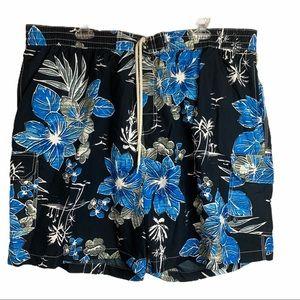 Caribbean Joe Hawaiian Floral Swim Trunks size XXL